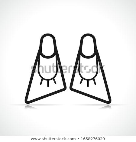 Vector bodyboard flippers symbol icon Stock photo © nickylarson974