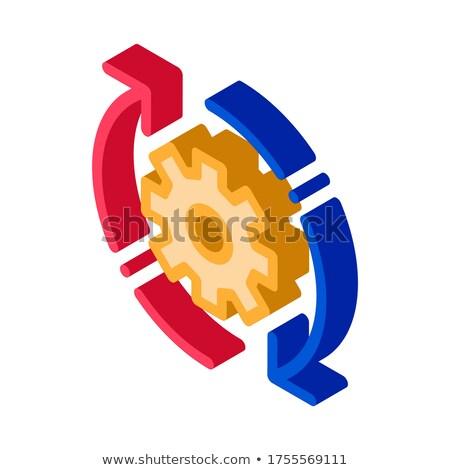 Gear кадр проворный элемент изометрический икона Сток-фото © pikepicture