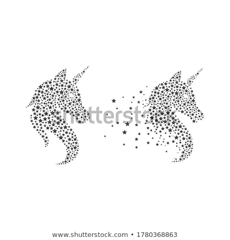 Unicorn Logo icon vector illustration Stock photo © Ggs