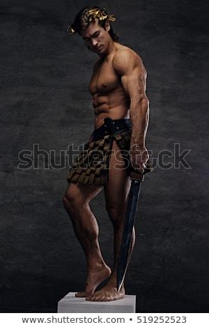 男性モデル スタジオ 剣 肖像 ハンサム 筋肉の ストックフォト © Jasminko