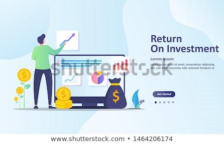 Volver inversión tabla financiar gráfico presupuesto Foto stock © ussr