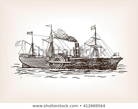 грузовое · судно · лук · промышленных · декораций · большой · воды - Сток-фото © lirch