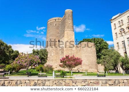Torony Azerbajdzsán tájékozódási pont épület turista Stock fotó © travelphotography
