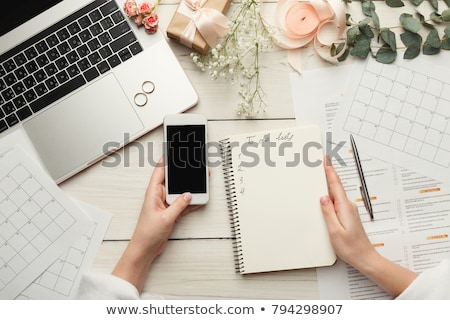 Woman preparing wallpaper Stock photo © photography33