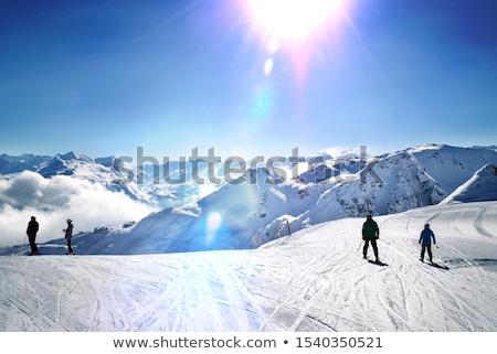 ski piste in Montafon stock photo © prill