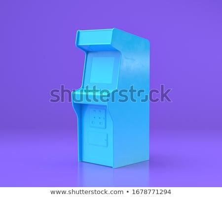 colorido · blocos · de · construção · ilustração · 3d · madeira · verde · azul - foto stock © nasirkhan