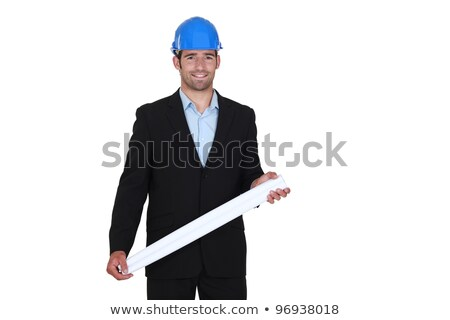 Architect stood with rolled-up plans Stock photo © photography33