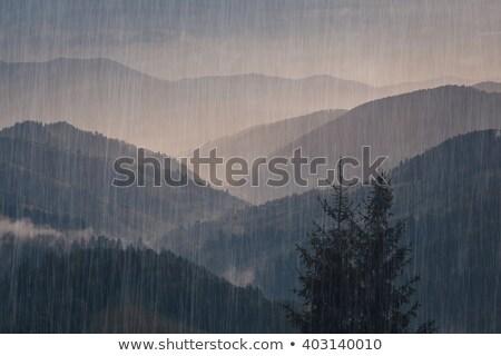 Raining mountains Stock photo © joyr