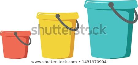 три зеленый краской белый студию контейнера Сток-фото © photography33