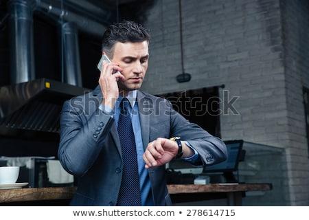 inteligente · homem · de · negócios · branco · camisas · braço - foto stock © grafvision