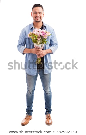 portrait of a man with flowers Stock photo © photography33