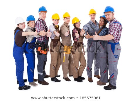 Female electrician giving the thumbs-up Stock photo © photography33