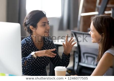 Сток-фото: коллеги · столе · служба · женщины · работу