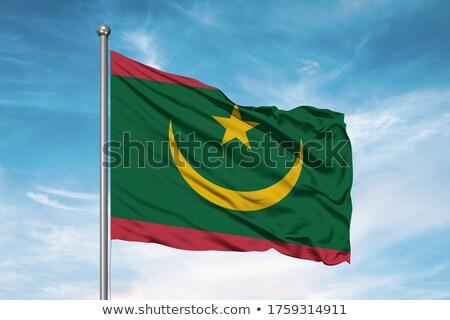 флаг · Мавритания · карта · фон · знак · путешествия - Сток-фото © tshooter
