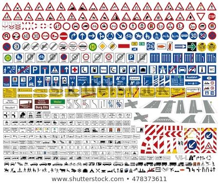 幹線道路の標識 方向 にログイン ハノーバー フランクフルト 便利 ストックフォト © ifeelstock