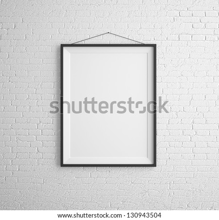 3D · keret · fehér · téglafal · fény · otthon - stock fotó © tashatuvango