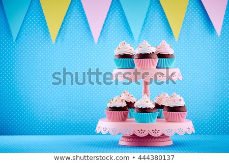 Tray of cupcakes Stock photo © bigjohn36