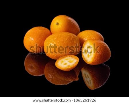Poucos frutas isolado branco comida laranja Foto stock © digitalr