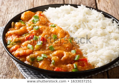 shrimp creole served on rice stock photo © rcarner
