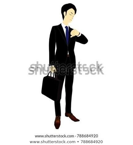 empresário · olhando · retrato · negócio · relógio - foto stock © photography33