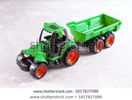 Traktör oyuncak küçük plastik yalıtılmış beyaz Stok fotoğraf © doupix