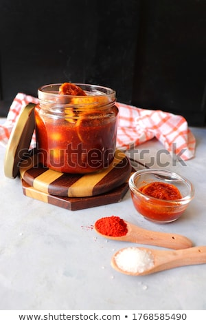 jar · groenten · glas · specerijen · kruiden · tabel - stockfoto © saddako2
