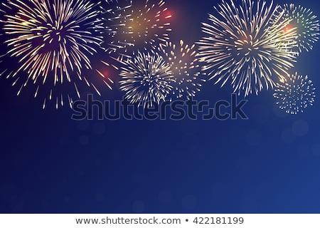 vuurwerk · mooie · donkere · nachtelijke · hemel · display · hoog - stockfoto © arenacreative