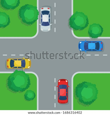 4-way Intersection Stock photo © disorderly