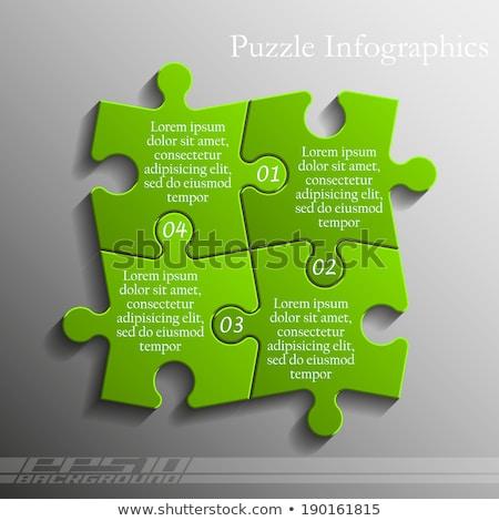 puzzle · parçaları · hizmet · ikon · tornavida · İngiliz · anahtarı · mavi - stok fotoğraf © tashatuvango