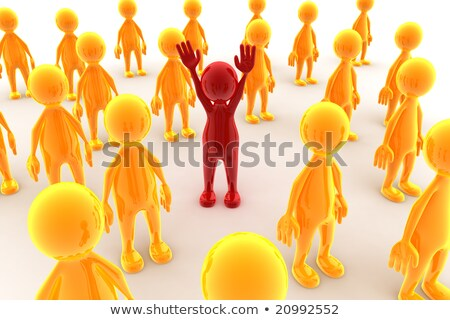 Unique character of crowd of people  Stock photo © Kirill_M