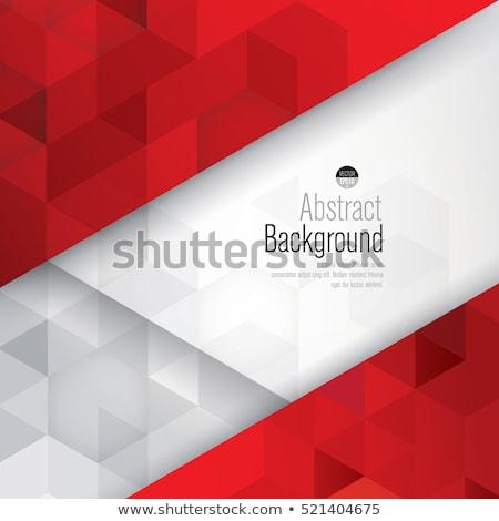 赤 · 抽象的な · ポリゴン · タイル · デザイン - ストックフォト © frostyara
