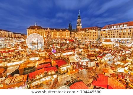 Дрезден · ночь · изображение · известный · город · Германия - Сток-фото © lianem