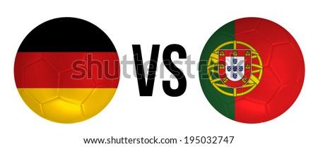 Duitsland vs Portugal groep fase wedstrijd Stockfoto © smocker03