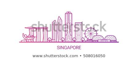 Szingapúr építészet apró öreg új belváros Stock fotó © joyr