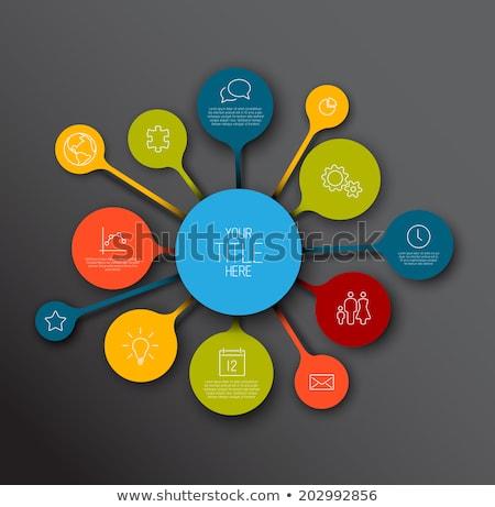 Infografika idővonal jelentés sablon színes buborékok Stock fotó © orson