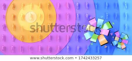 Internet News. Pastels Vintage Design Concept. Stock photo © tashatuvango