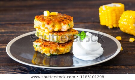 Pancakes are with corn Stock photo © Makse