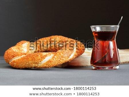 Té frescos mesa pan blanco Foto stock © raphotos