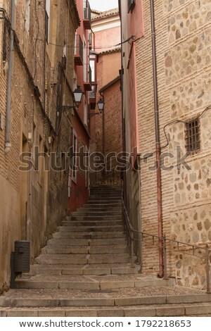 Keskeny sáv óváros Spanyolország fal kő Stock fotó © fisfra
