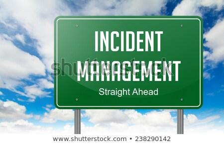 Incident Management on Highway Signpost. Stock photo © tashatuvango