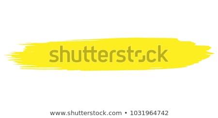 Paint brush amarelo vetor ícone projeto digital Foto stock © rizwanali3d