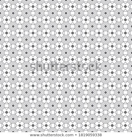 Cross-Shaped Pattern Consisting of Square Tiles. Stock photo © tashatuvango