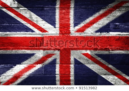 Wooden Flag Of Great Britain  Stock photo © olgaaltunina