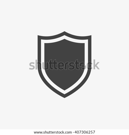 Design shield icons on gray background Stock photo © nalinratphi