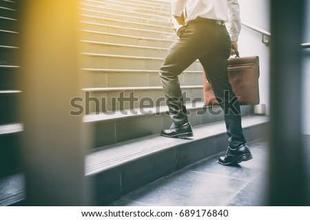 Işadamı yürüyüş bacak yukarı beyaz adam Stok fotoğraf © wavebreak_media