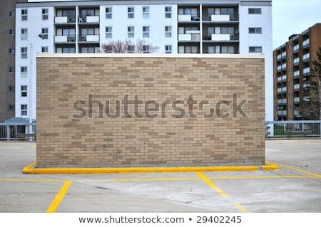 Parking tytuł murem podpisania ulicy pojazd Zdjęcia stock © stevanovicigor