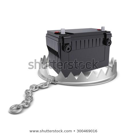 батареи несут ловушка изолированный белый Сток-фото © cherezoff