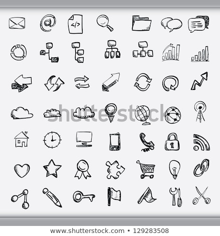 sketchy communication icons Stock photo © get4net