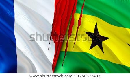 France and Sao Tome and Principe Flags Stock photo © Istanbul2009