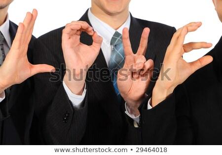 Három üzletemberek előadás szó szeretet üzletember Stock fotó © Paha_L